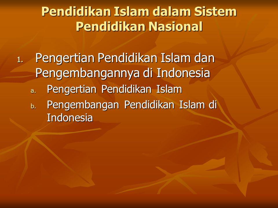 Pendidikan Islam dalam Sistem Pendidikan Nasional