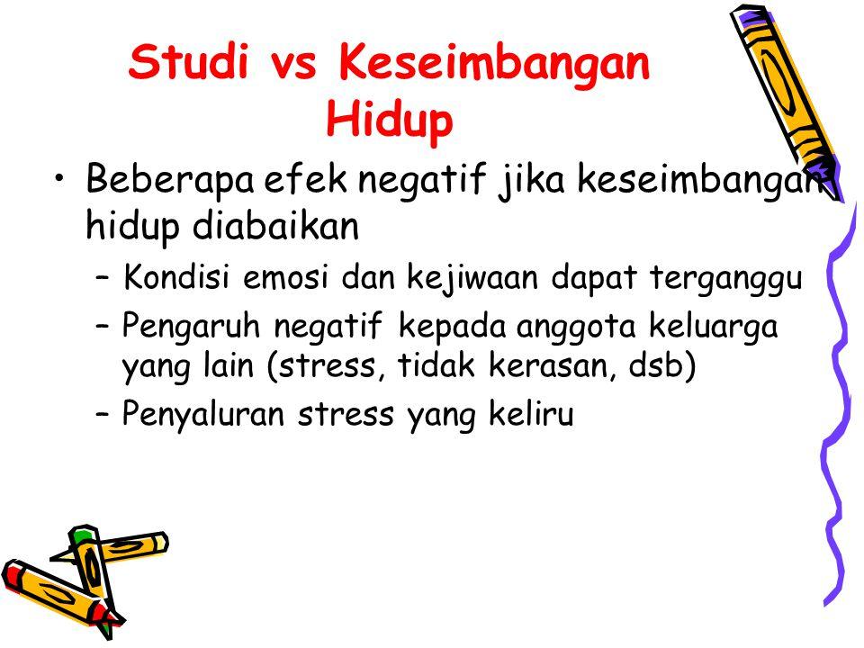 Studi vs Keseimbangan Hidup