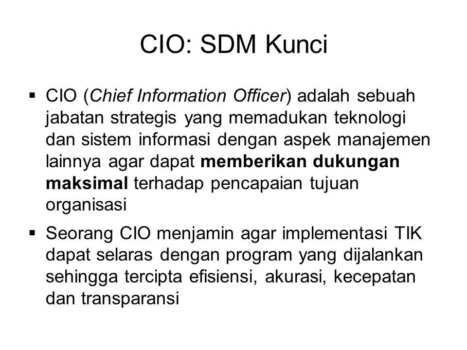 CIO: SDM Kunci
