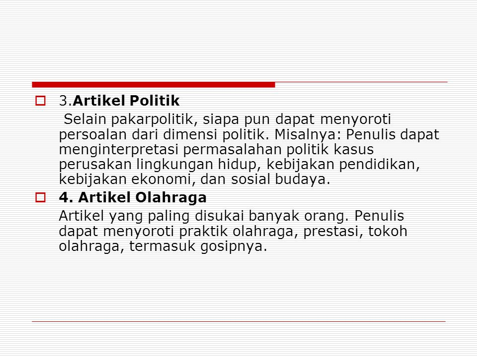 3.Artikel Politik