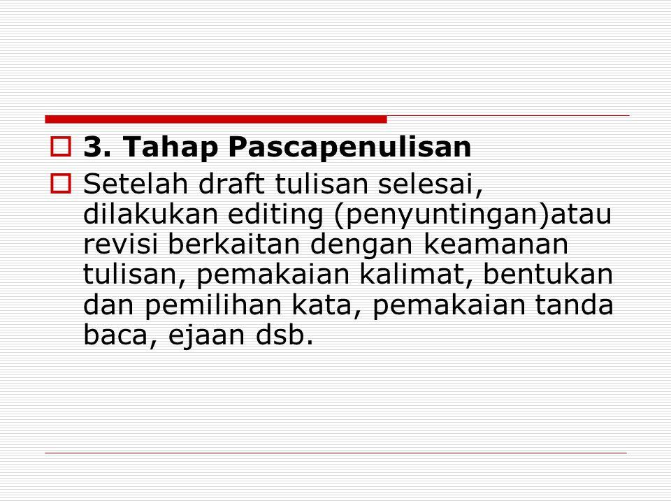 3. Tahap Pascapenulisan