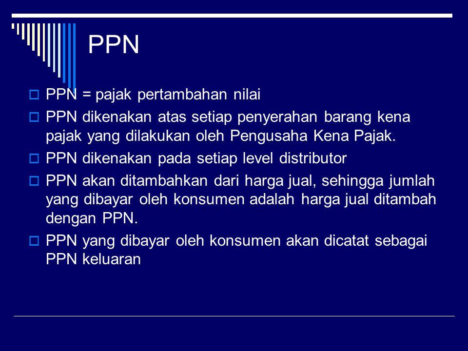PPN PPN = pajak pertambahan nilai