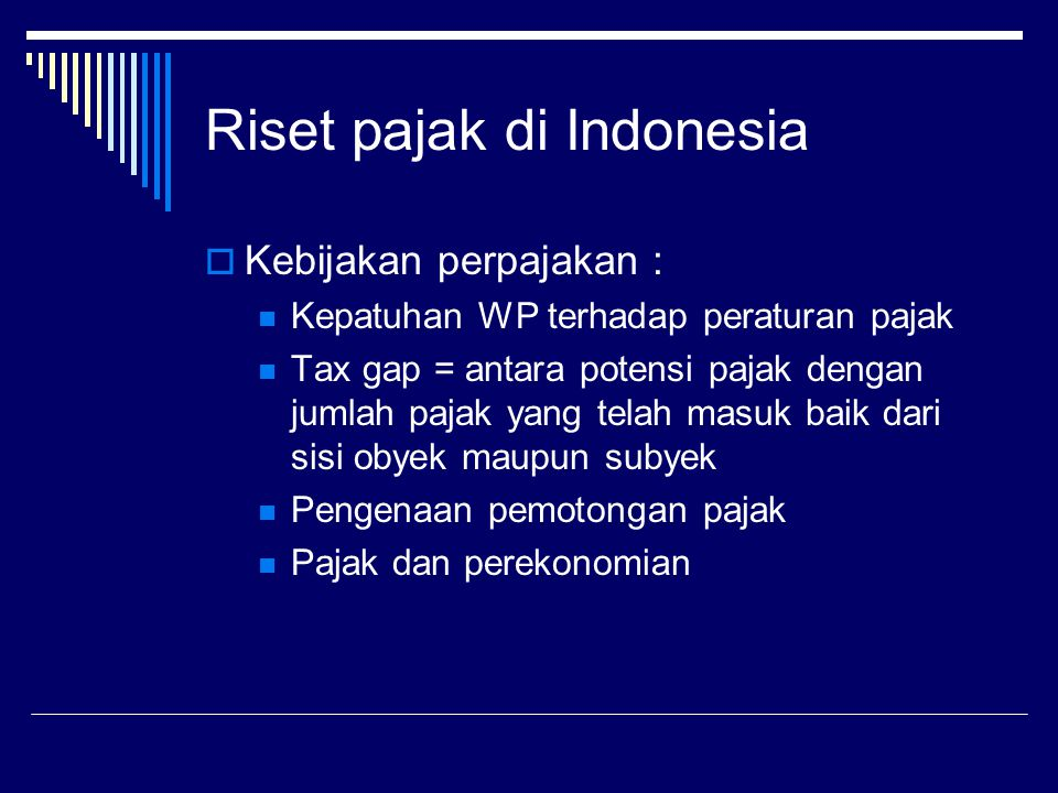 Riset pajak di Indonesia