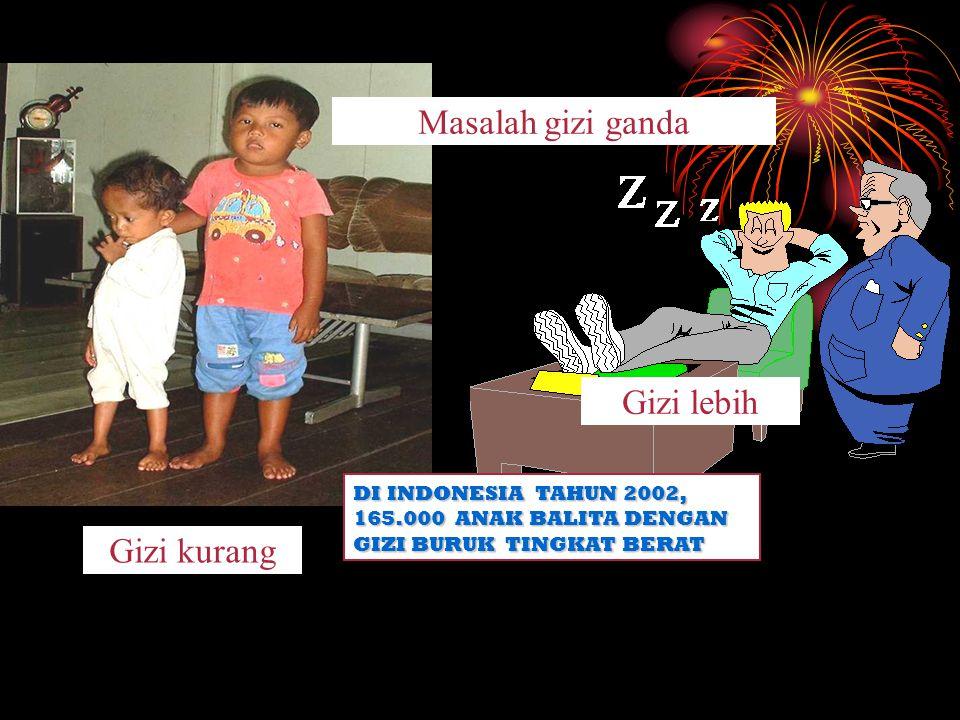 Masalah gizi ganda Gizi lebih Gizi kurang DI INDONESIA TAHUN 2002,