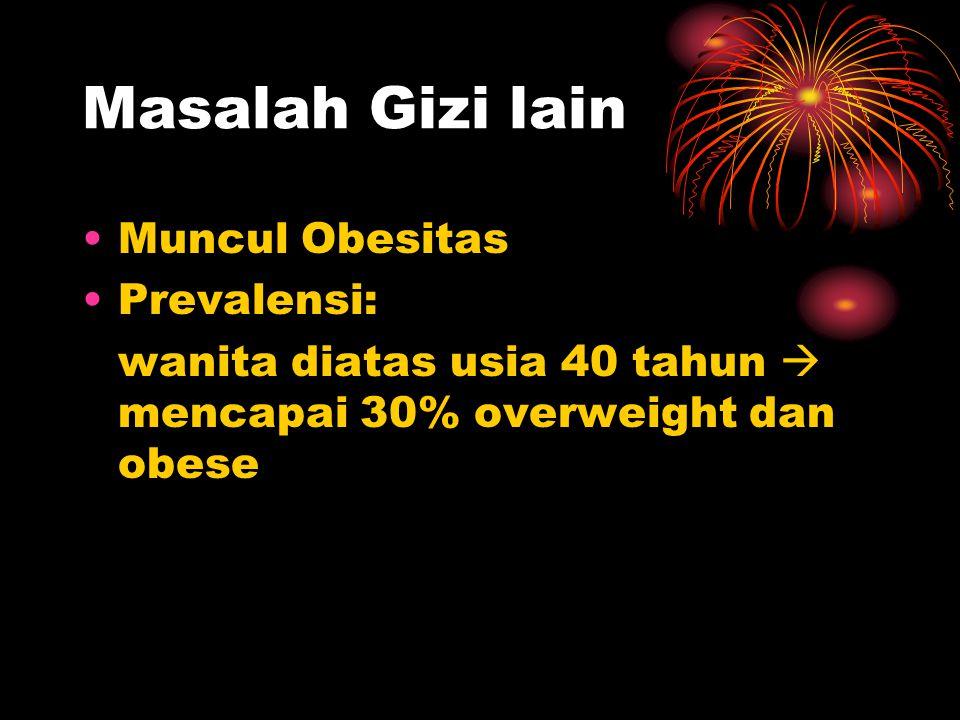 Masalah Gizi lain Muncul Obesitas Prevalensi: