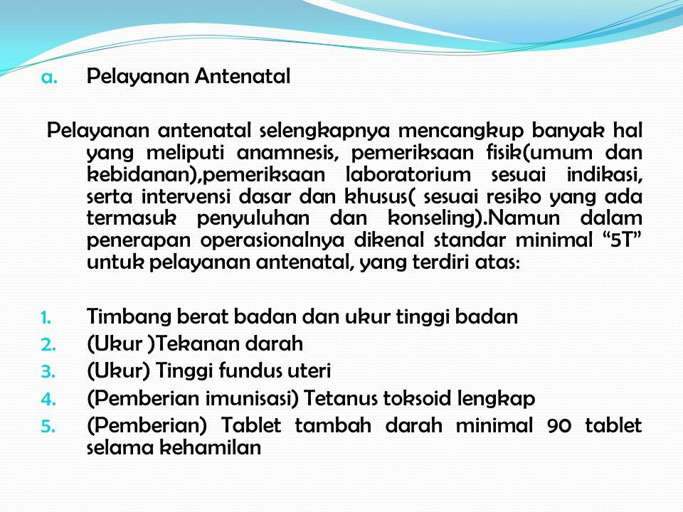 Pelayanan Antenatal