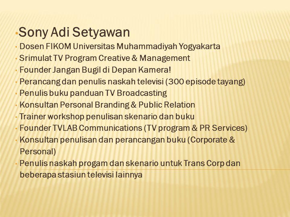 Sony Adi Setyawan Dosen FIKOM Universitas Muhammadiyah Yogyakarta