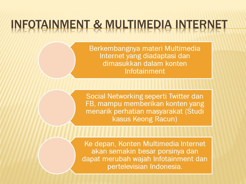Infotainment & multimedia internet