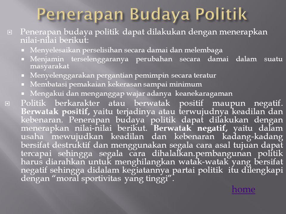 Penerapan Budaya Politik