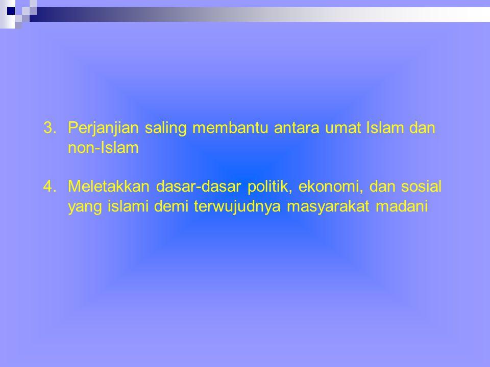 Perjanjian saling membantu antara umat Islam dan non-Islam
