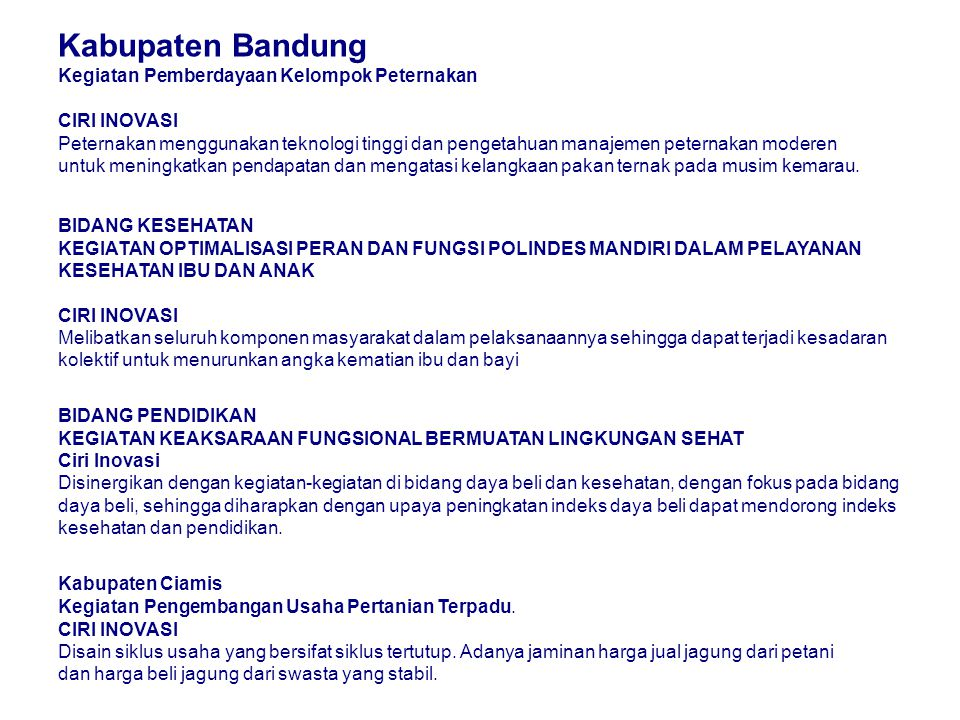 Kabupaten Bandung Kegiatan Pemberdayaan Kelompok Peternakan