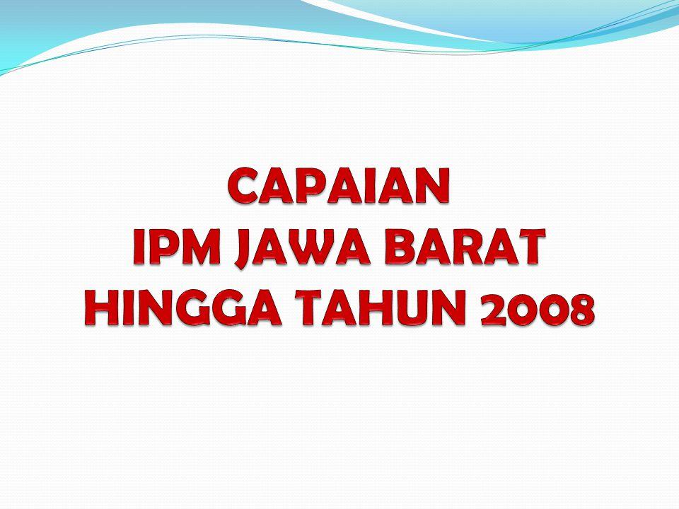 CAPAIAN IPM JAWA BARAT HINGGA TAHUN 2008