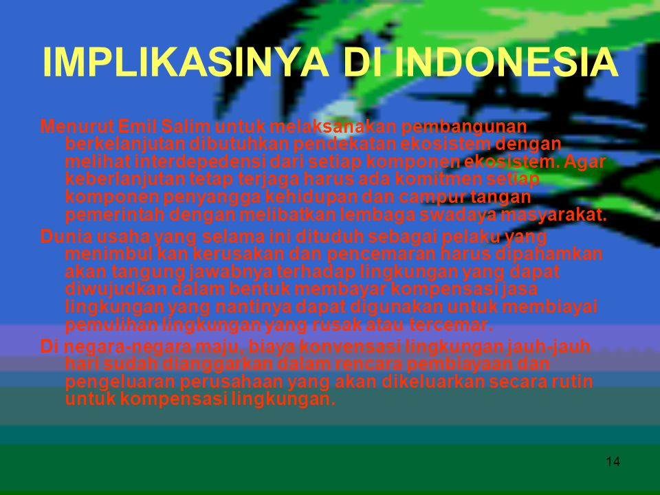 IMPLIKASINYA DI INDONESIA