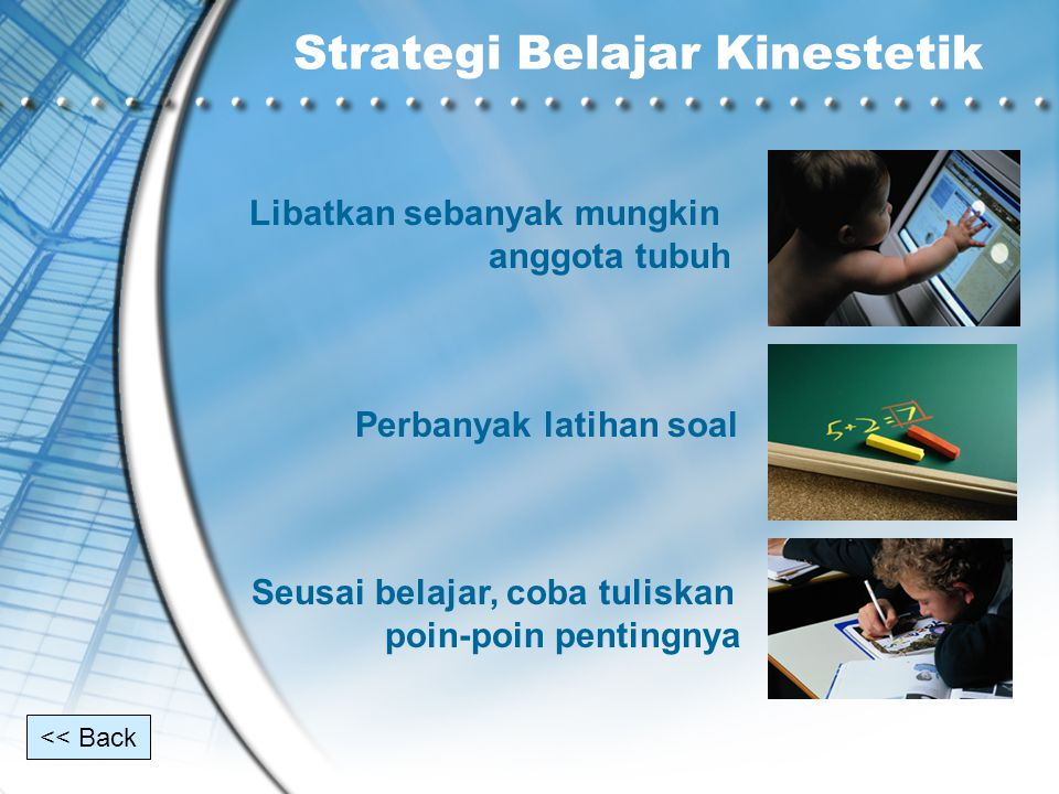 Strategi Belajar Kinestetik