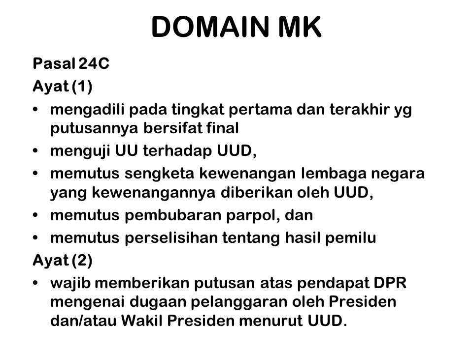DOMAIN MK Pasal 24C Ayat (1)