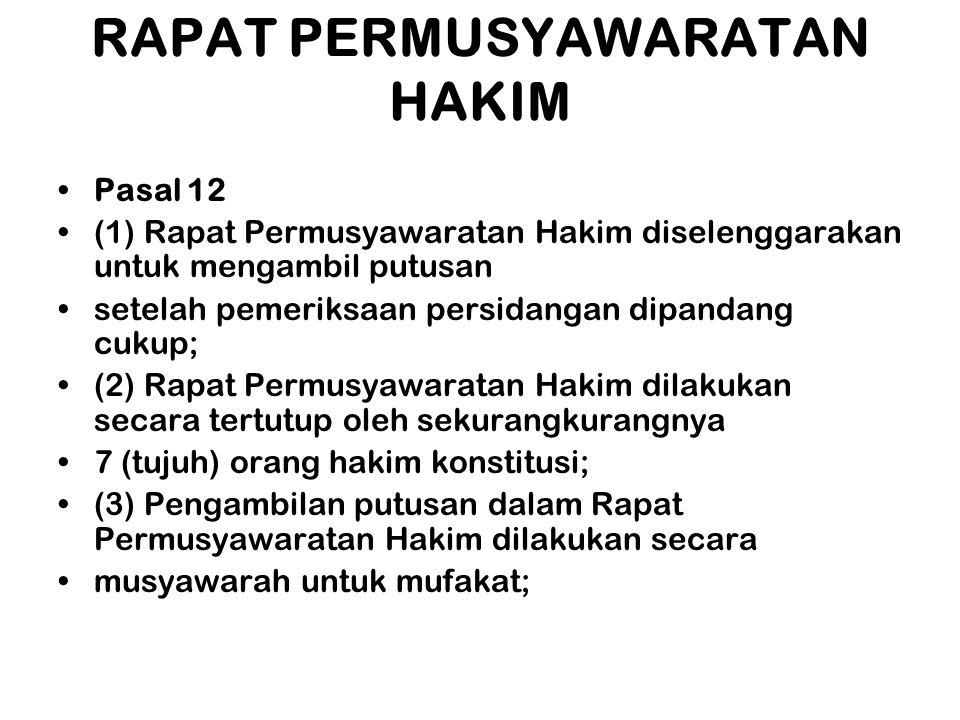 RAPAT PERMUSYAWARATAN HAKIM