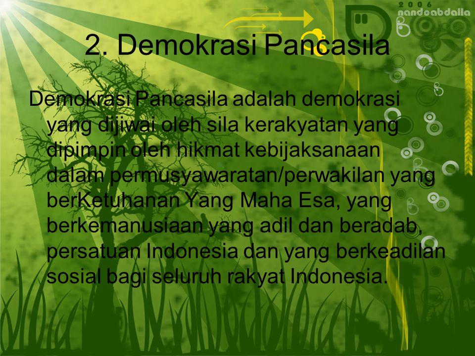 2. Demokrasi Pancasila