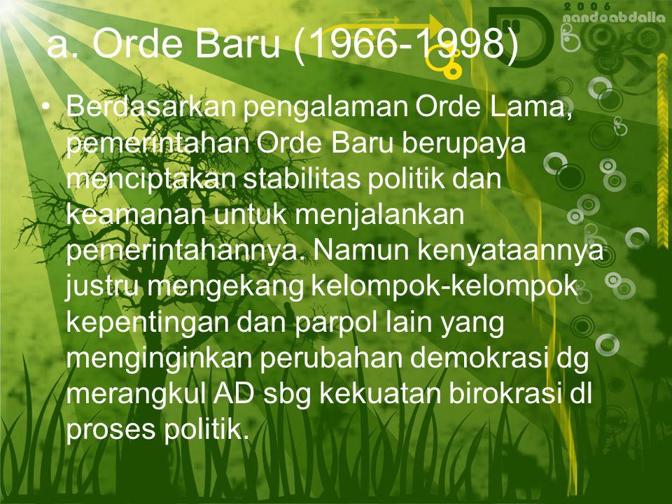 a. Orde Baru (1966-1998)