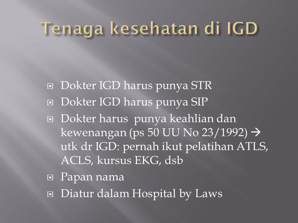 Tenaga kesehatan di IGD