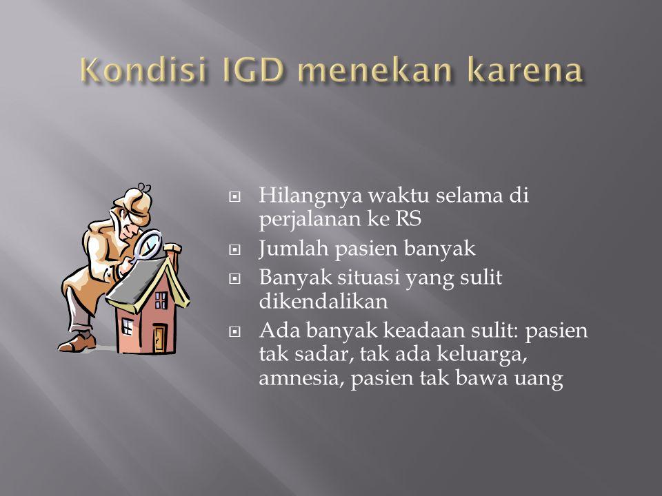 Kondisi IGD menekan karena