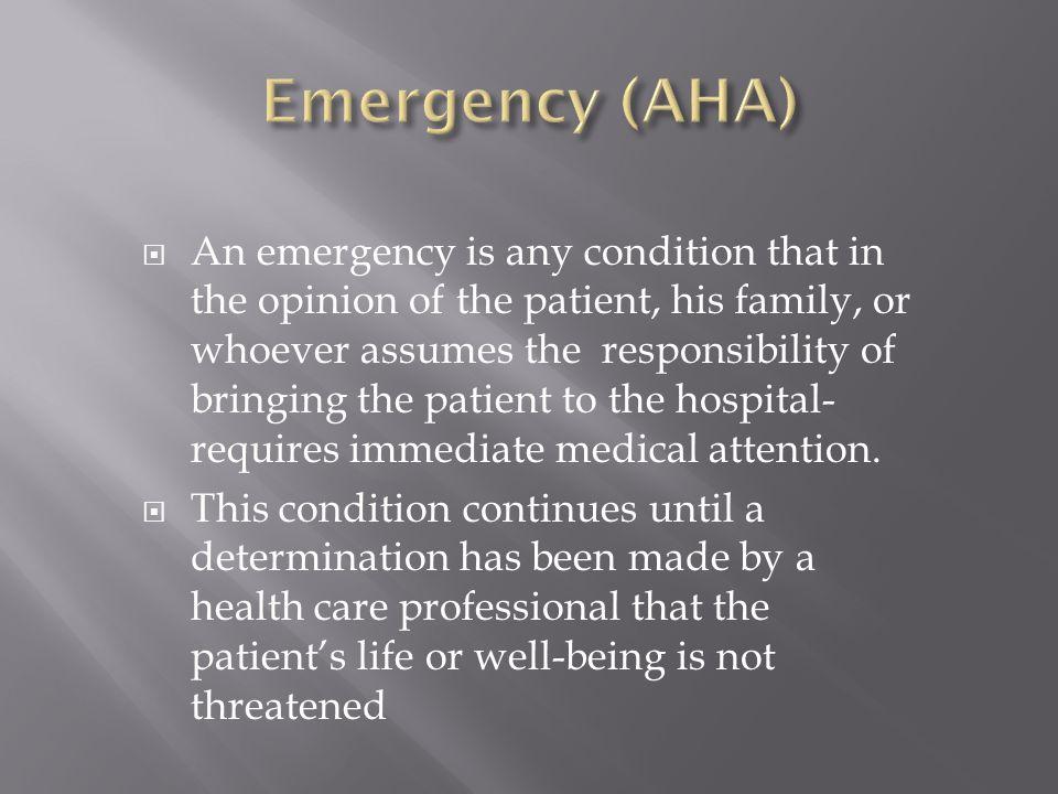 Emergency (AHA)