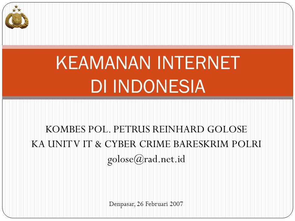KEAMANAN INTERNET DI INDONESIA