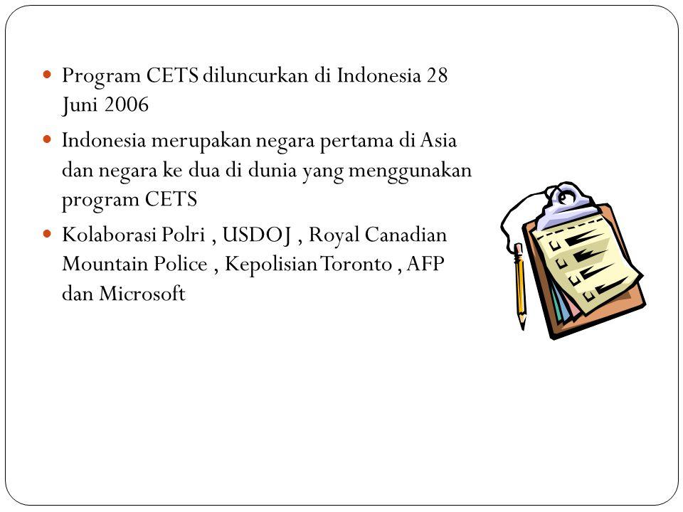 Program CETS diluncurkan di Indonesia 28 Juni 2006