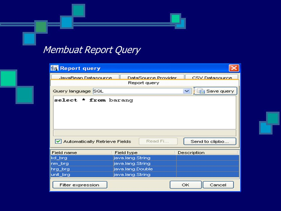 Membuat Report Query