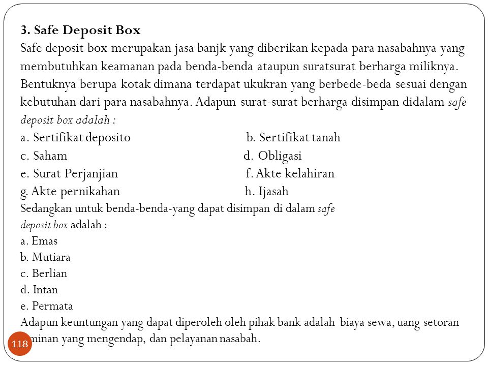 a. Sertifikat deposito b. Sertifikat tanah c. Saham d. Obligasi