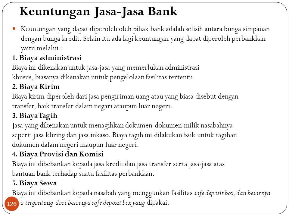 Keuntungan Jasa-Jasa Bank
