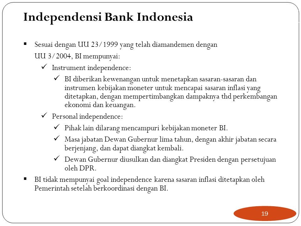 Independensi Bank Indonesia