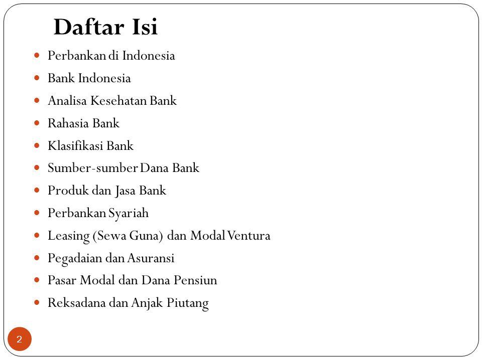 Daftar Isi Perbankan di Indonesia Bank Indonesia