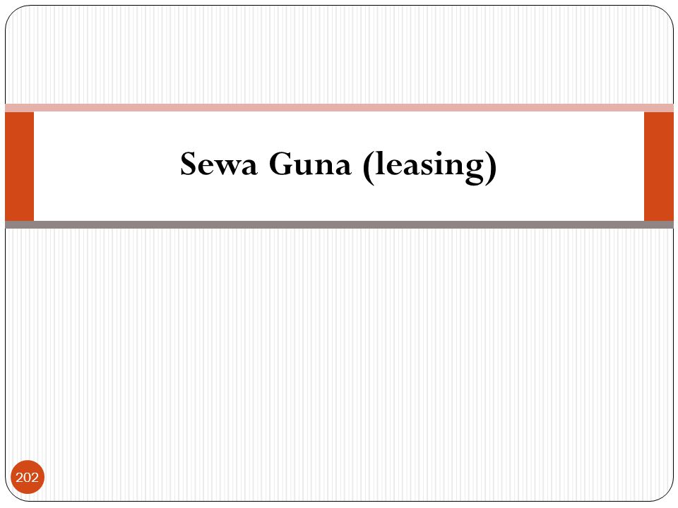 Sewa Guna (leasing)