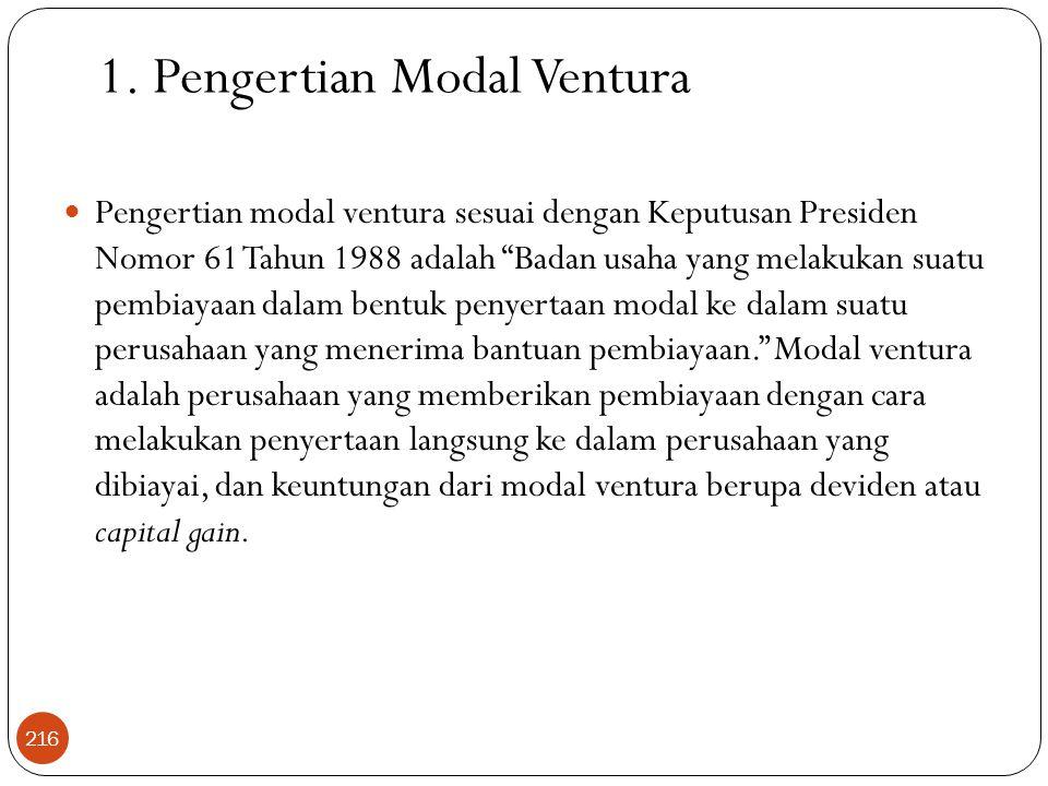 1. Pengertian Modal Ventura