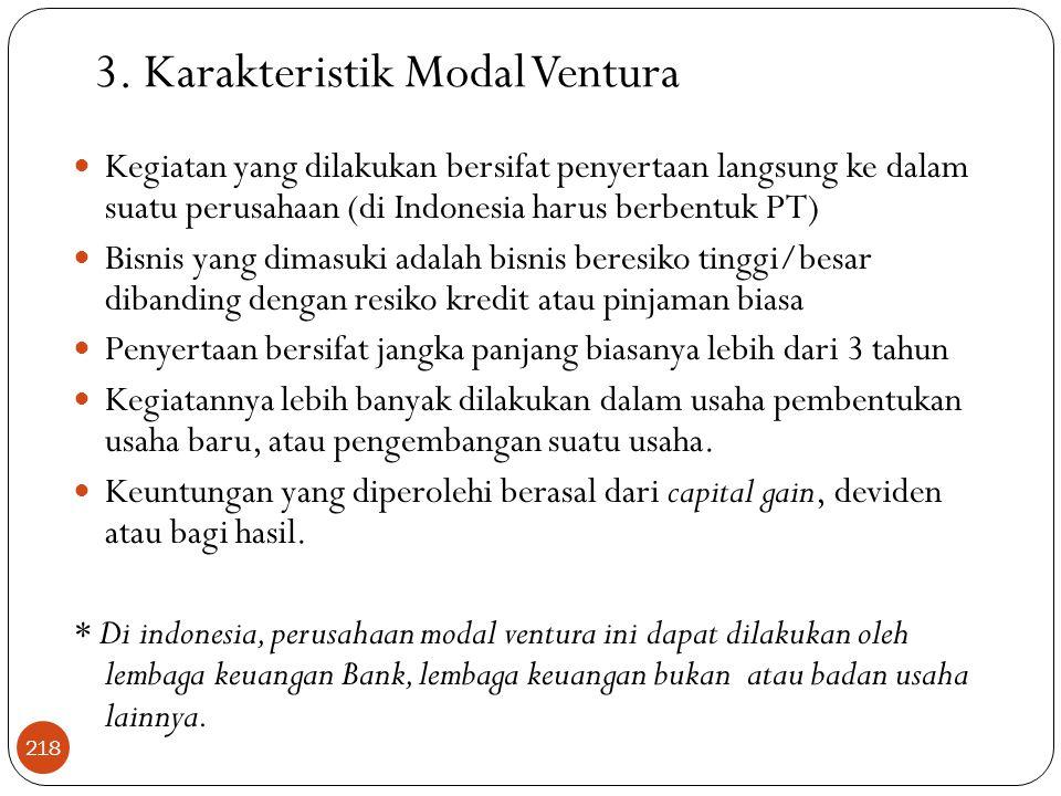 3. Karakteristik Modal Ventura