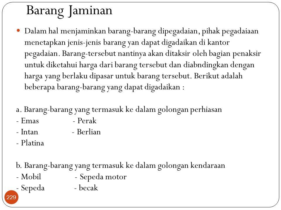Barang Jaminan