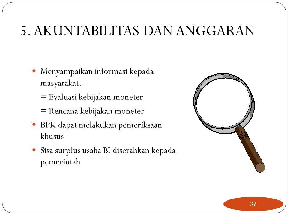 5. AKUNTABILITAS DAN ANGGARAN