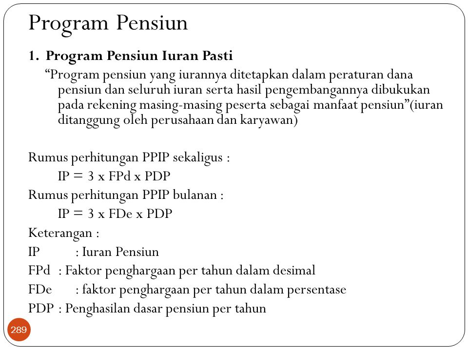 Program Pensiun