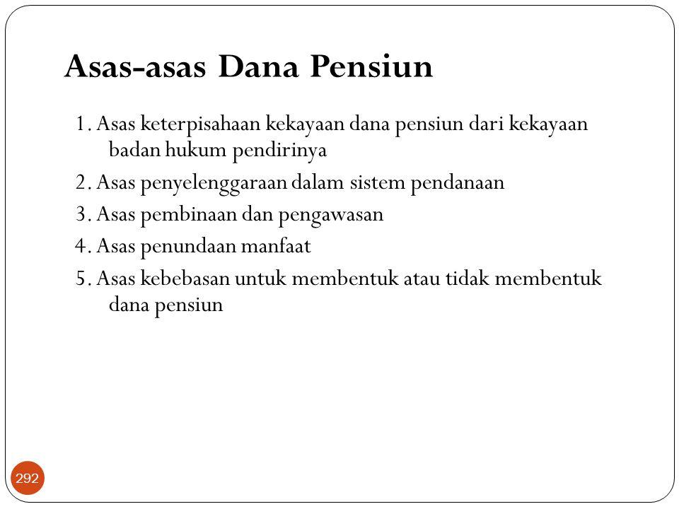 Asas-asas Dana Pensiun