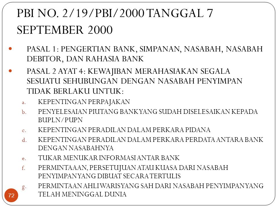 PBI NO. 2/19/PBI/2000 TANGGAL 7 SEPTEMBER 2000