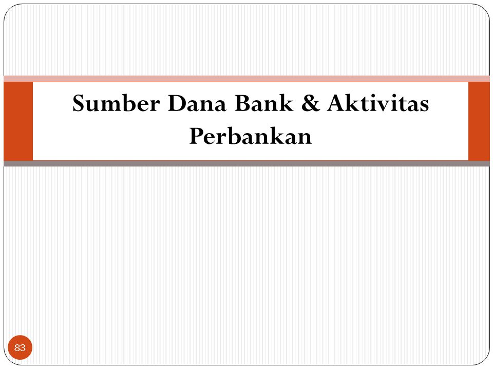 Sumber Dana Bank & Aktivitas Perbankan