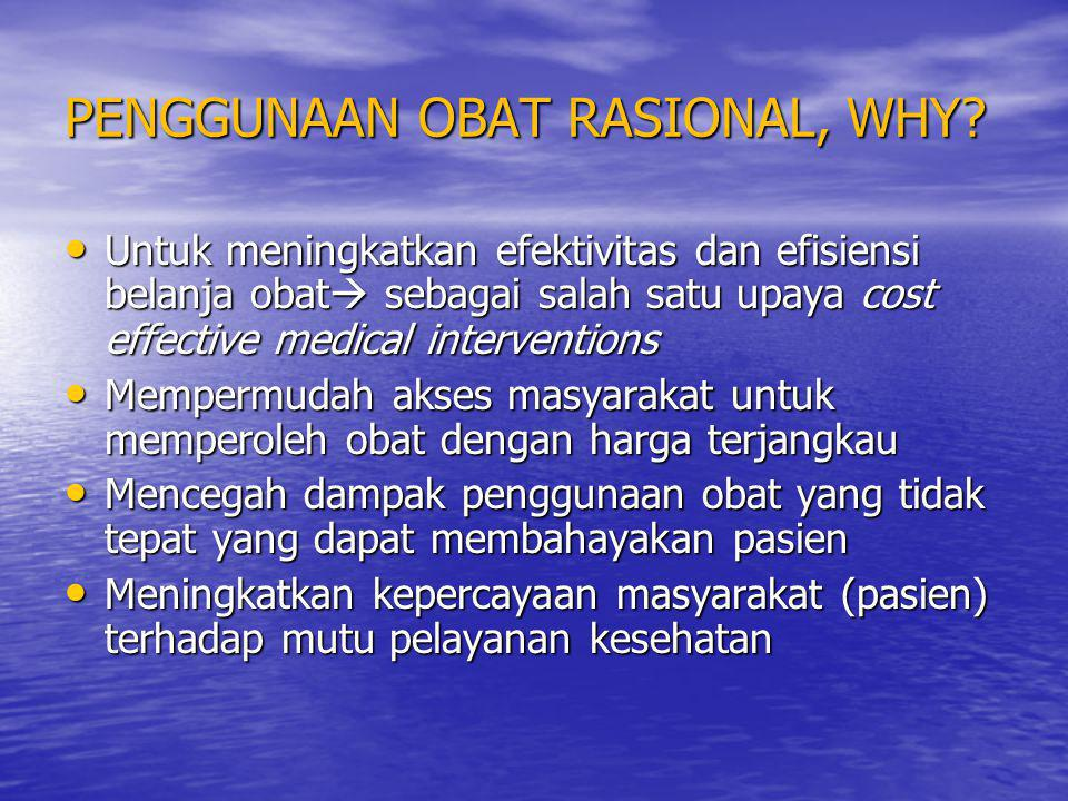 PENGGUNAAN OBAT RASIONAL, WHY
