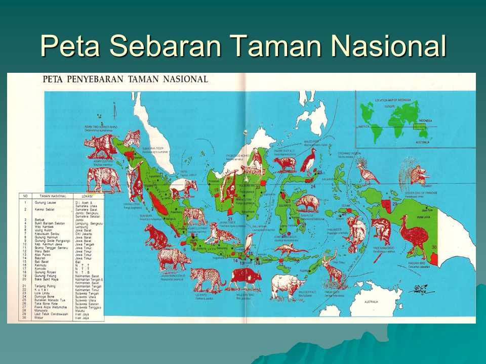 Peta Sebaran Taman Nasional