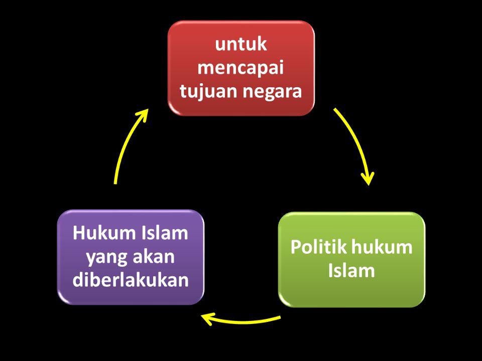 untuk mencapai tujuan negara Hukum Islam yang akan diberlakukan