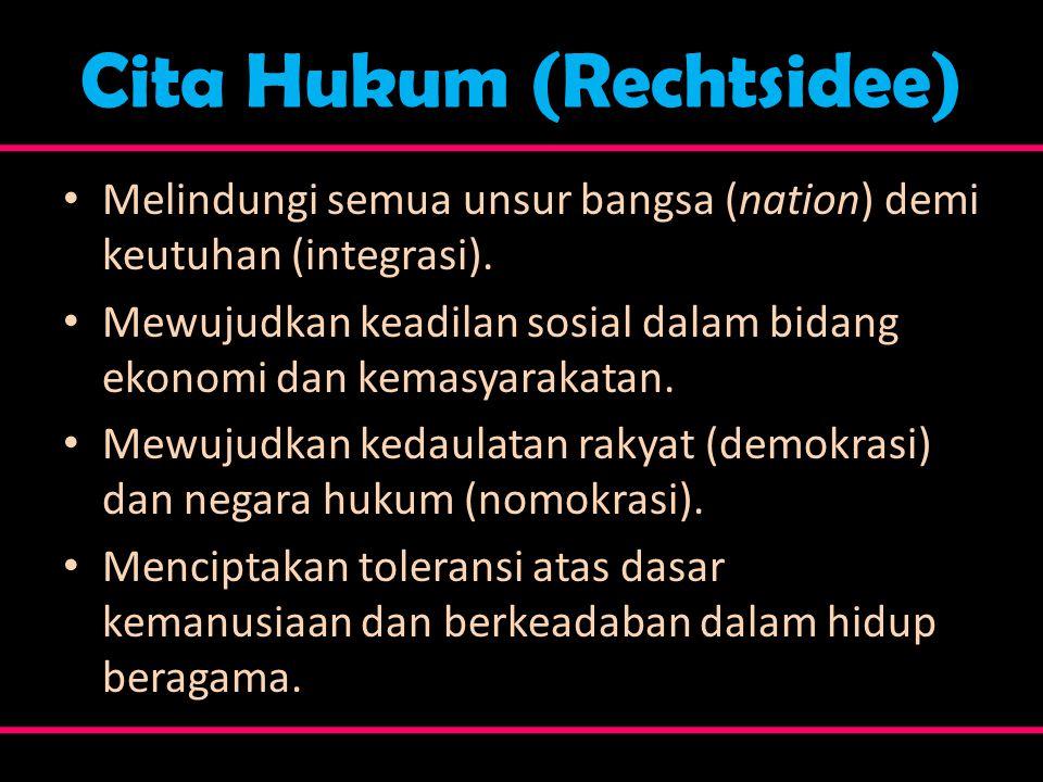 Cita Hukum (Rechtsidee)