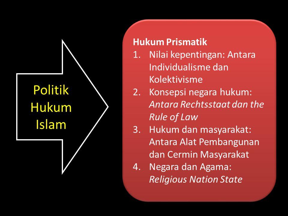 Politik Hukum Islam Hukum Prismatik