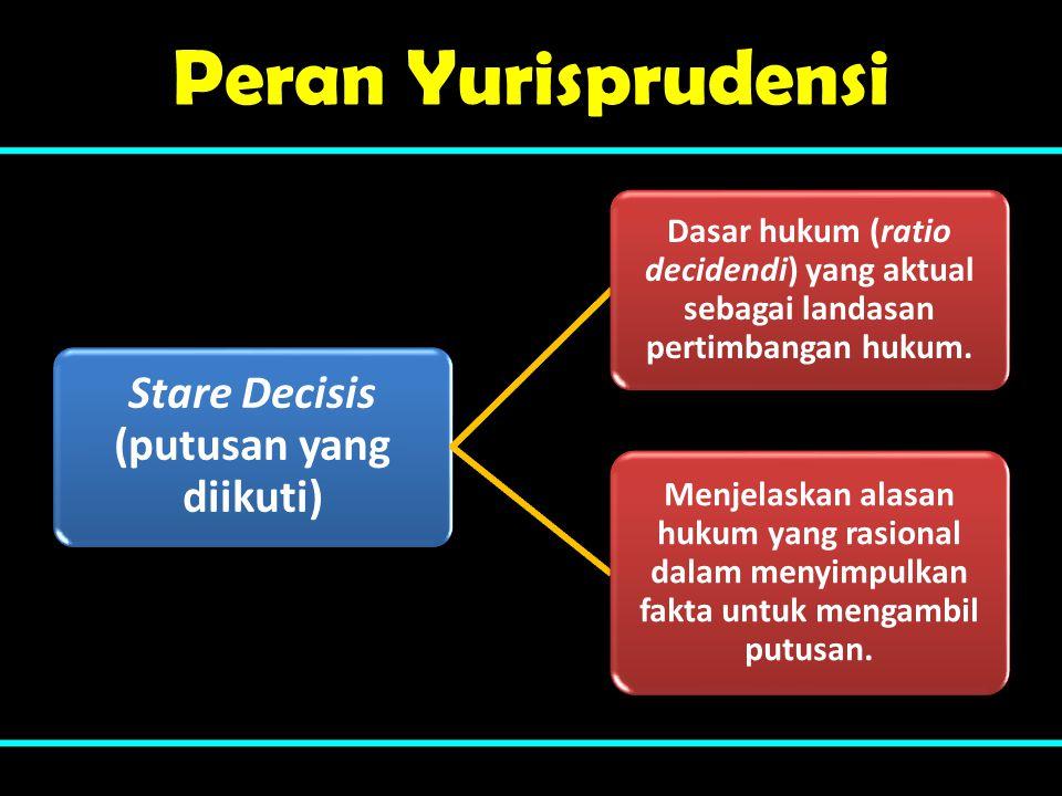 Stare Decisis (putusan yang diikuti)