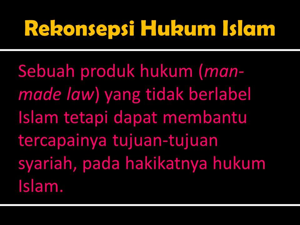 Rekonsepsi Hukum Islam