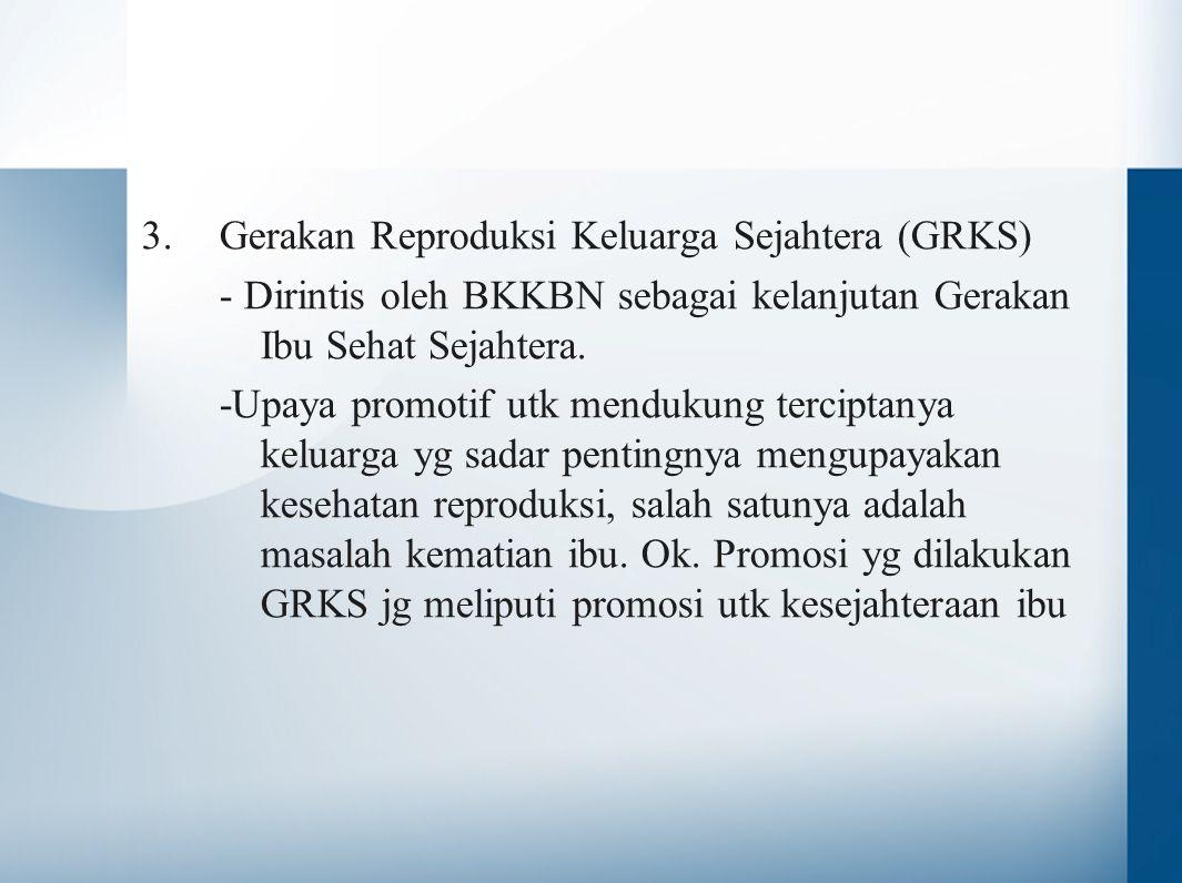Gerakan Reproduksi Keluarga Sejahtera (GRKS)