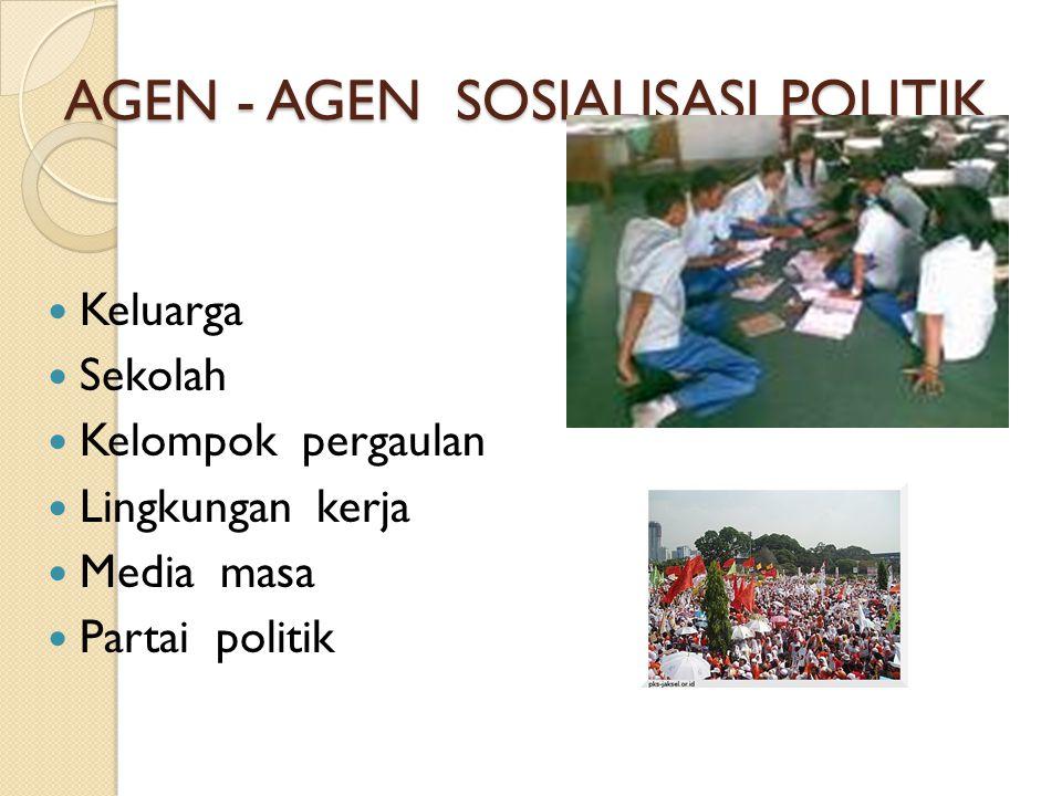 AGEN - AGEN SOSIALISASI POLITIK
